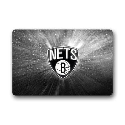 DEYOU Brooklyn Nets Doormat Outdoor Indoor Floor Mats Non-Slip Bathroom Mats Size 18x30 Inch