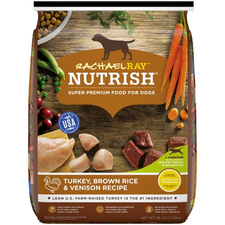 Rachael Ray Nutrish Natural Dry Dog Food, Turkey, Brown Rice & Venison Recipe, 26