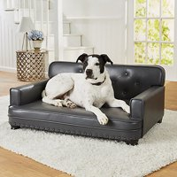 """Enchanted Home Pet Library Sofa Dog Bed, Large, 30""""x40""""x18"""", Gray"""