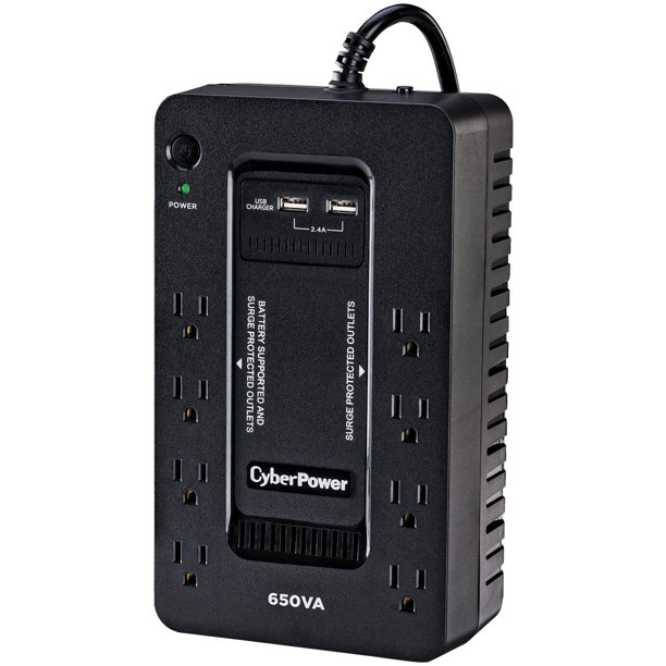 Cyberpower 650 VA Battery Backup UPS, 8-Outlets