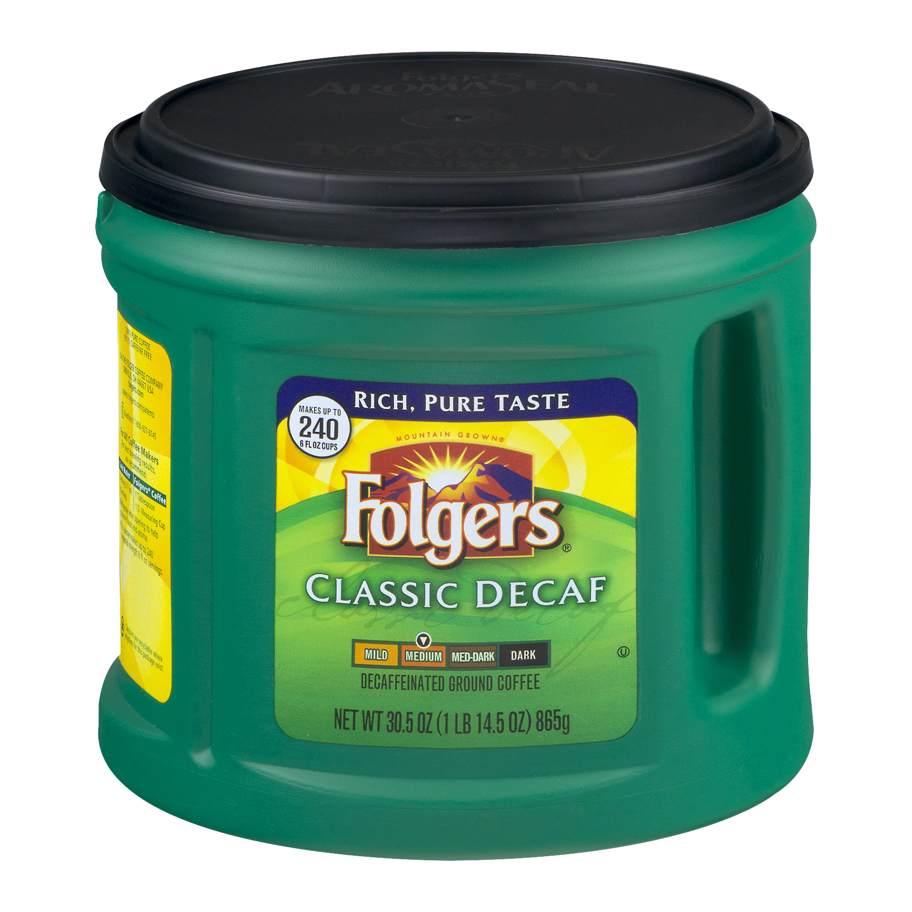 Folgers Classic Decaf Medium Decaffeinated Ground Coffee, 30.5 OZ
