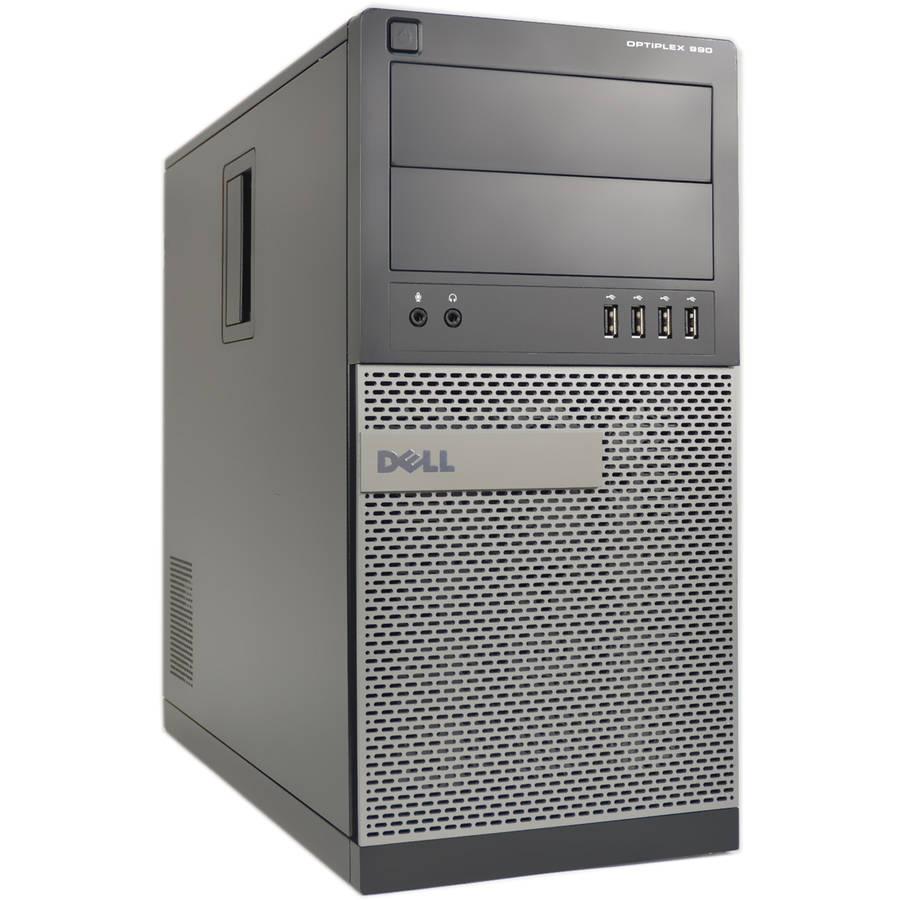 Refurbished Dell Optiplex 990 WA1-0233 Desktop PC with Intel Core i5-2400 Processor, 8GB Memory, 1TB Hard Drive and Windows 10 Pro (Monitor Not Included)