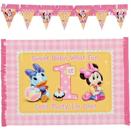 Minnie Mouse First Birthday High Chair Decorating Kit, Party Supplies (Minnie Mouse Party Supplies 1st Birthday)