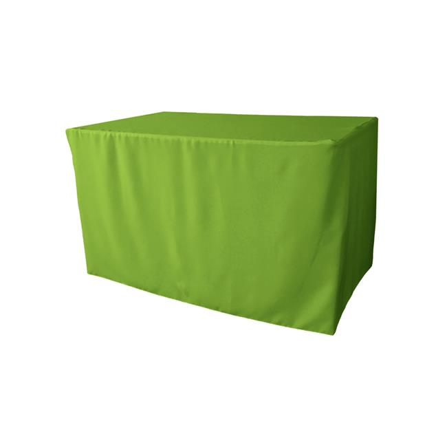 TCpop-fit-48x30x30-LimeP84 1.8 lbs Polyester Poplin Fitted Tablecloth, Lime - image 1 of 1