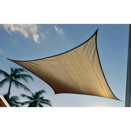 Shadelogic Sun Shade Sail 12 Square Sand Walmart Com
