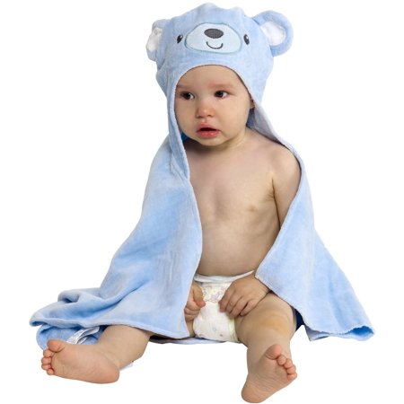 Silver Lilly Animal Face Terry Cloth Hooded Baby Bath