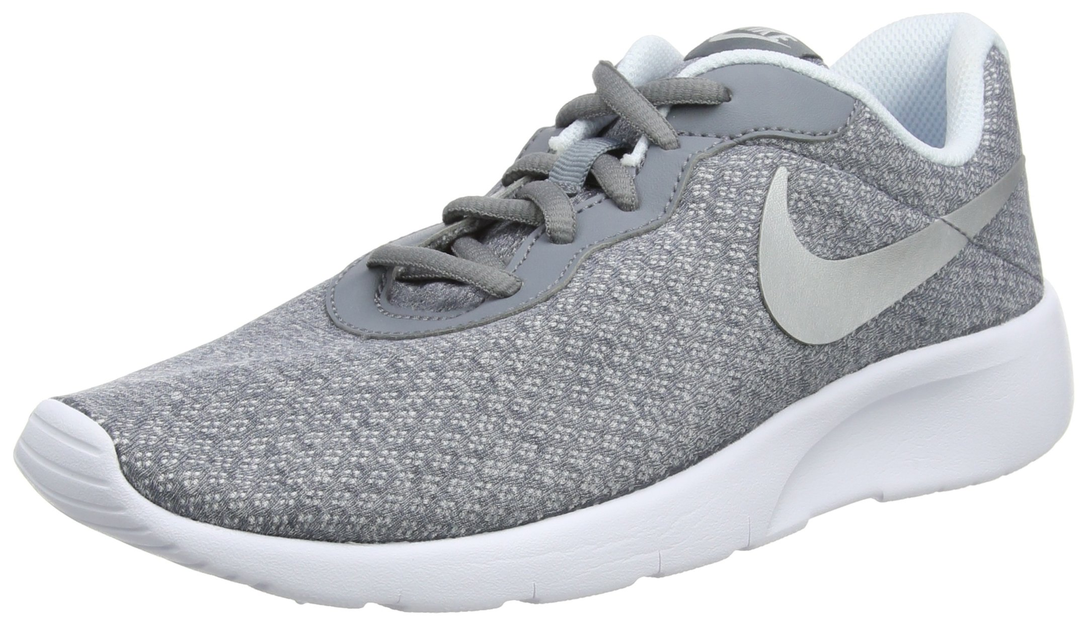 Nike 818384-003: Big Kids' Tanjun Cool Grey/Metallic Silver-blue Tint Sneakers (6 M US Big Kid)