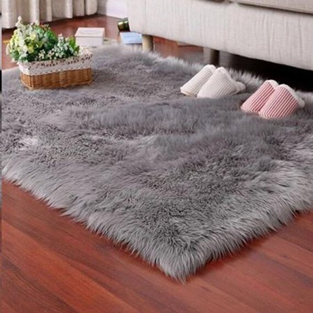 - Faux Fur Rug Tayyakoushi Soft Fluffy Rug Shaggy Rugs Faux Sheepskin Rugs Floor Carpet for Bedrooms Living Room Kids Rooms Decor 2.3ft*3ft