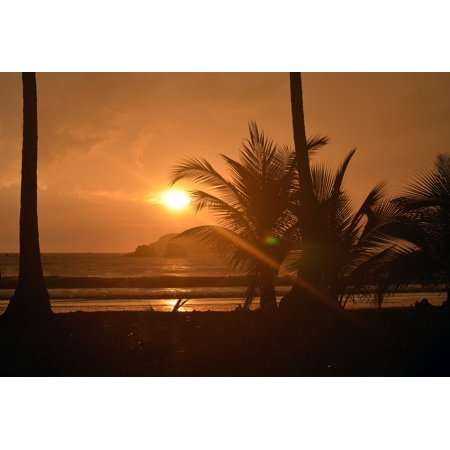 Framed Art for Your Wall Costa Rica Water Sea Sunset Vacation Beach Ocean 10x13
