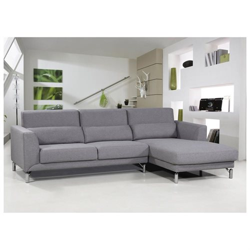 US Pride Furniture Aria Fabric Facing Right Chaise Modern