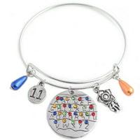 Monifuon Stranger Things Bracelet, Alphabet Light Wall Monster 11 Letter Snakes Charms Wristband Wristlet Jewelry Accessories