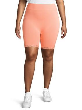 Eye Candy Juniors' Plus Size Lace Trim Bike Shorts