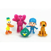 Set of 5 PCS Figures Pocoyo Inspired Toys Zinkia Doll PVC Action Figures. Perfect for Party Favor, Gift, Topper, Birthday Party!