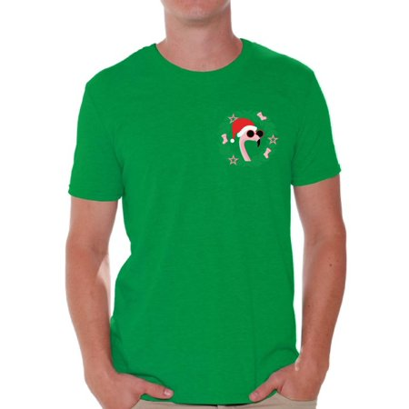 32302181 Awkward Styles Christmas Flamingo Pocket Tshirt Flamingo Christmas Shirt  Flamingo Ugly Christmas T Shirt for Men Funny Christmas Gifts for Him Xmas  Pocket ...