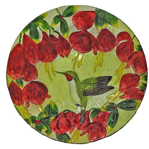 Continental Art Center Hummingbird Glass Plate