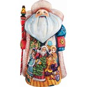 G.Debrekht 241122 Woodcarving Magic Night Father Frost 11 in. - Woodcarved Santa