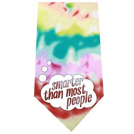 Smarter than Most People Screen Print Bandana Tie Dye