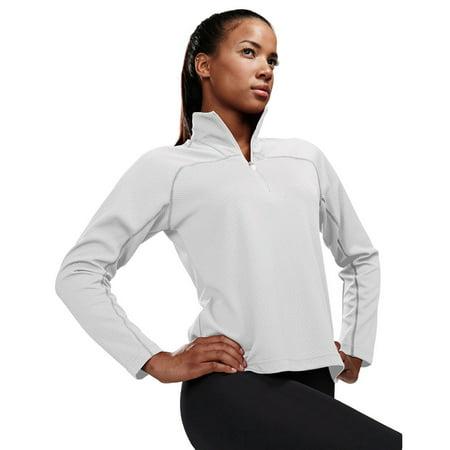 Tri-Mountain Women's 1 4 Zip Waffle Knit Pullover Shirt