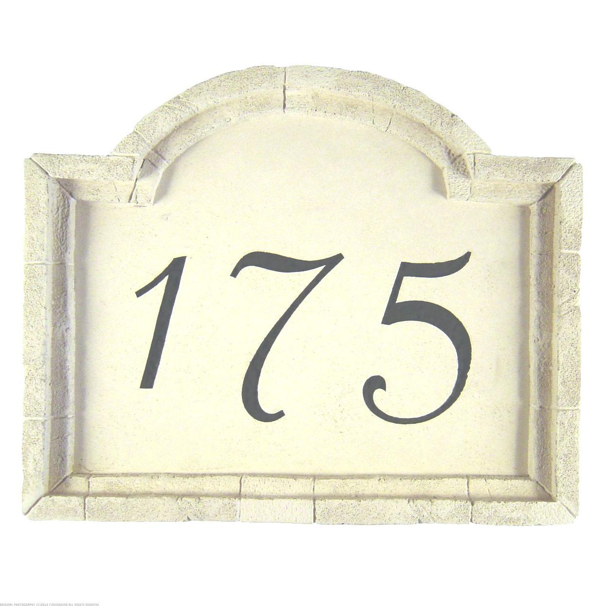 Kay Berry 33240 Small Crescent Top Address Plaque