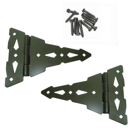 "Image of ""Wood Gate T-Hinges - Wood Fence Hinge Gate Kit, 8"""" T-Gate Hinges - Wood Gate Hardware STRAP HINGES"""