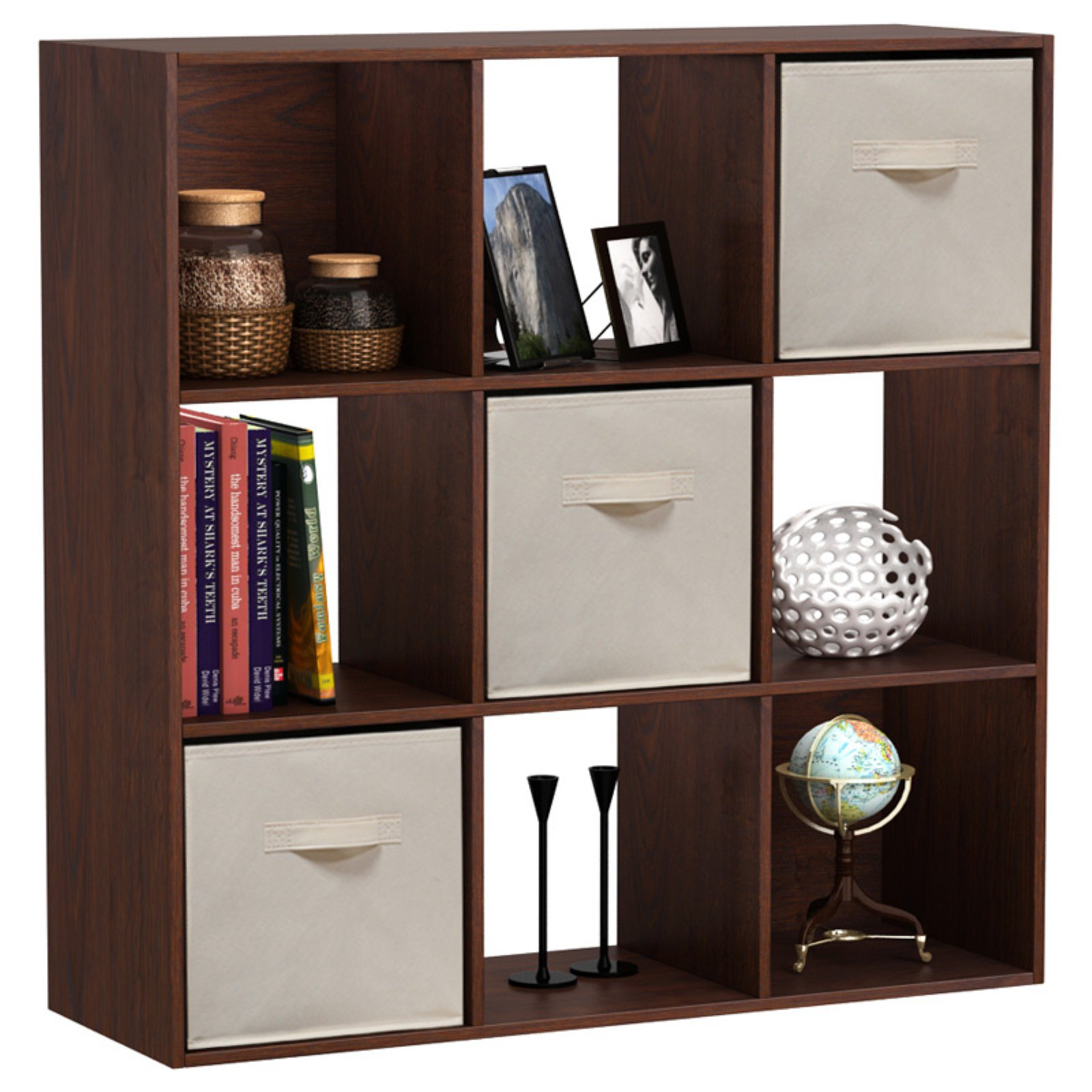tier bookcase espresso ladder shelf itm bookshelf av bookcases rack storage wood leaning