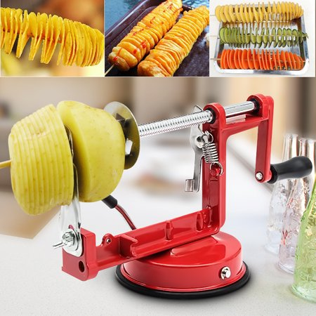 Stainless Steel Manual Twisted Potato Spiral Slicer French Fry Vegetable Cutter