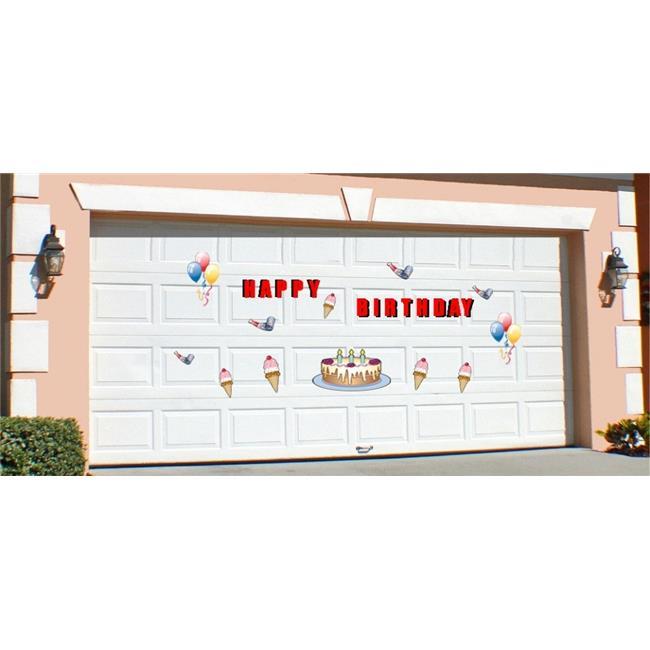 stixs garage ub0212 birthday magnetic door decorations walmart