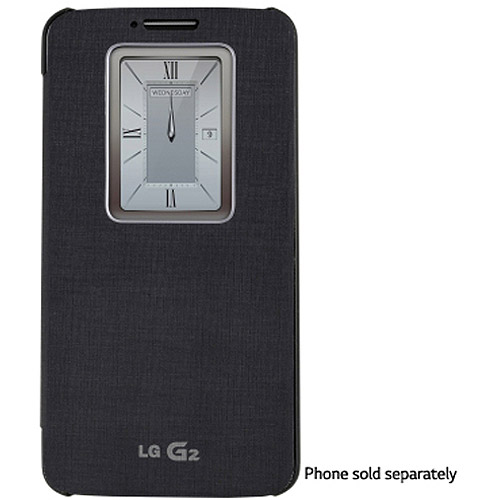 LG QuickWindow Folio Case for LG G2 D800 - Black (Only fo...