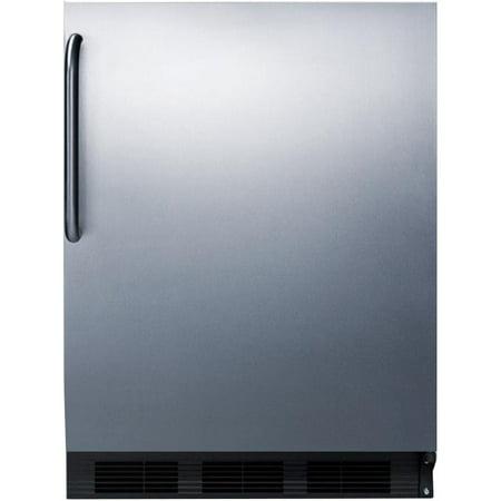 Summit 24-Inch 5.1 Cu. Ft. ADA Compliant Refrigerator / Freezer With Towel Bar Handle