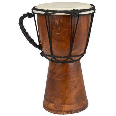 Drums Mini Djembe Drum djembe jembe is a rope-tuned skin covered goblet drum played with bare hands originally from West Africa