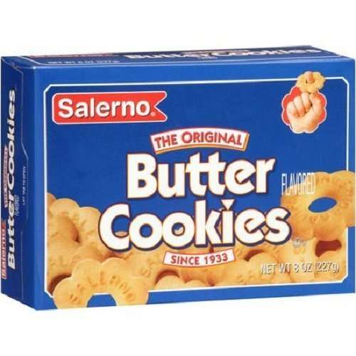 Salerno Cookies, The Original Butter Cookies, 8 Oz (Pack of 3)
