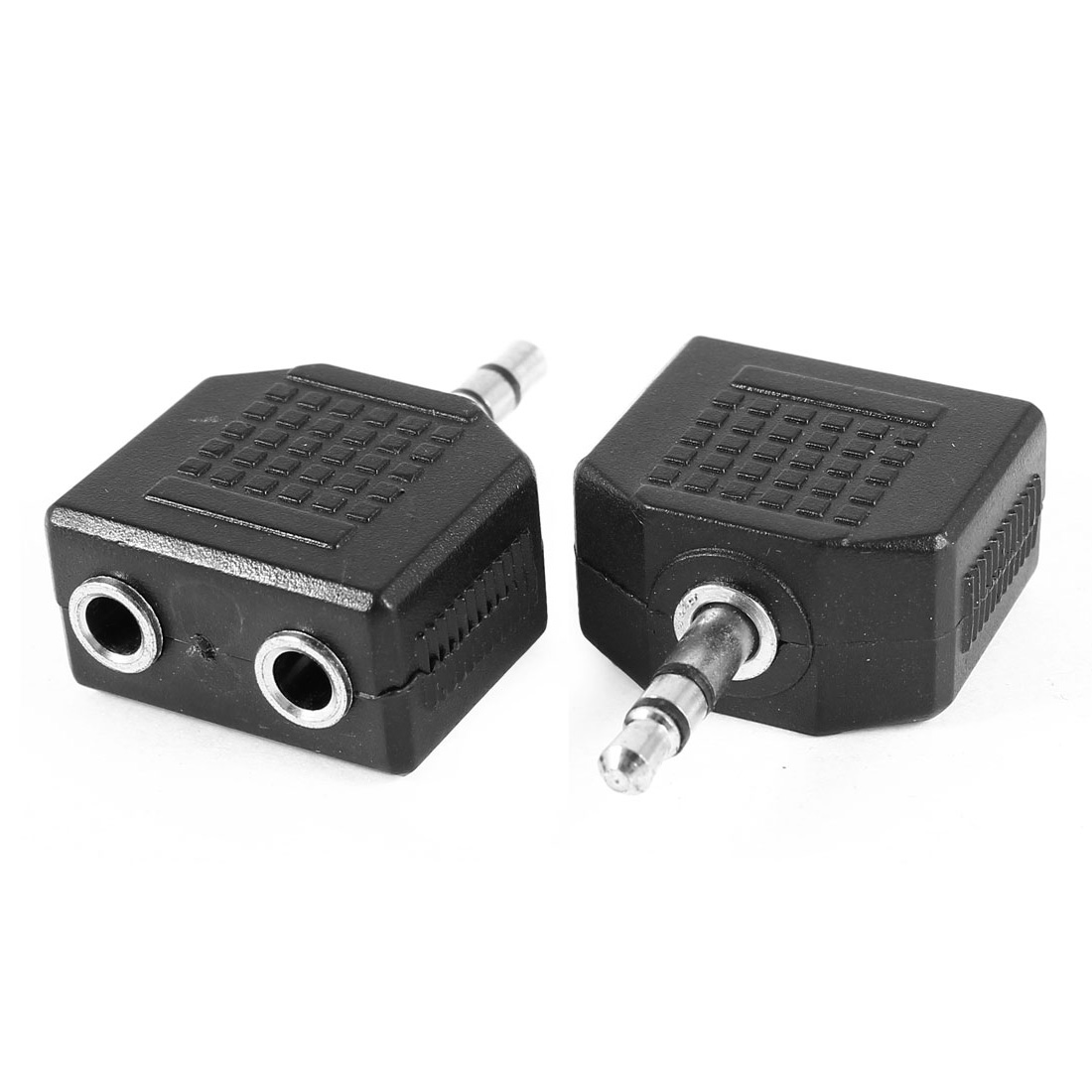Dual 3.5mm Female to 3.5mm Male Audio Convertor Adapter Connector 2 Pieces - image 1 of 1