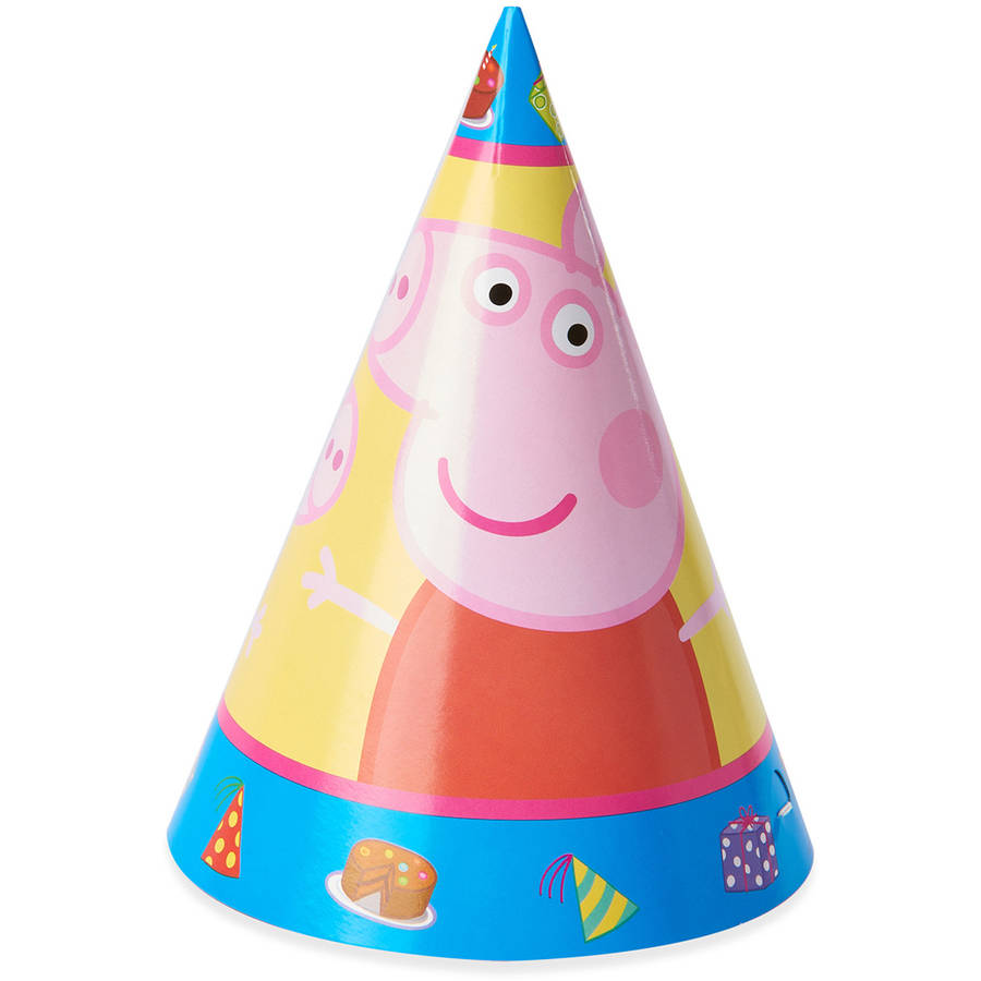 Peppa Pig Party Hats, 8ct