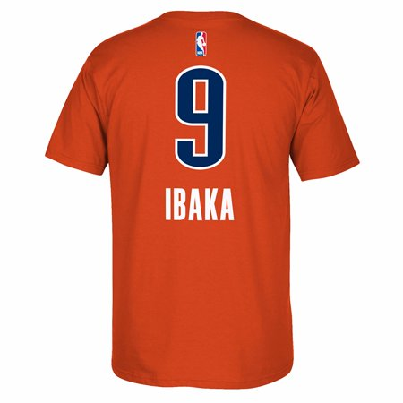 Serge Ibaka Oklahoma City Thunder NBA Adidas Orange Player Name & Number Team Jersey  T-Shirt For Men