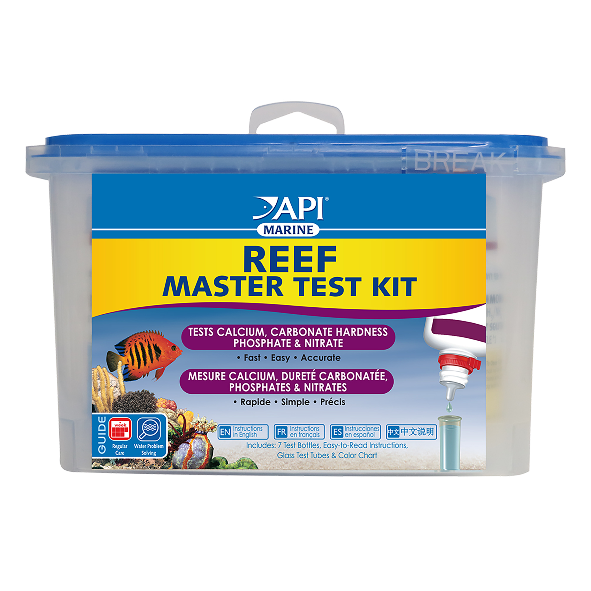 API Reef Master Test Kit, Aquarium Water Test Kit, 1-Count
