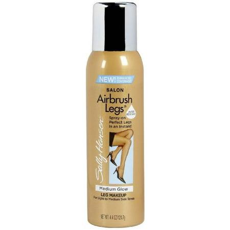 Sally Hansen Airbrush Legs Leg Makeup, Medium Glow 4.4 oz (Pack of 4)