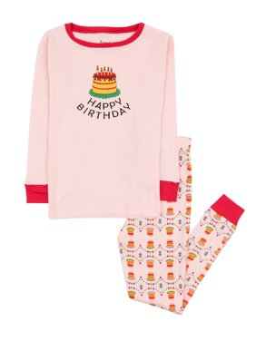Leveret Kids Pajamas Boys Girls Hearts Birthday 2 Piece pjs set 100% Cotton (Size 12 Months-14 Years)
