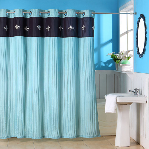 Somerset Meridian Home Shower Curtain with Buttonholes