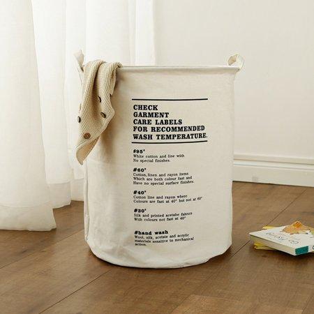 Explosive laundry basket Nordic cotton and linen hamper home storage basket - image 2 de 3