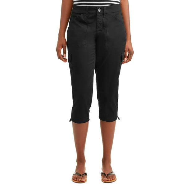 Time and Tru - Women's Cargo Capri Pants - Walmart.com - Walmart.com