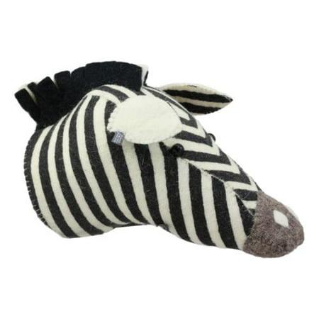 Fiona Walker England Handmade Organic Mini Zebra Horse Head Hanging Wall Decor (Handmade Zebra)