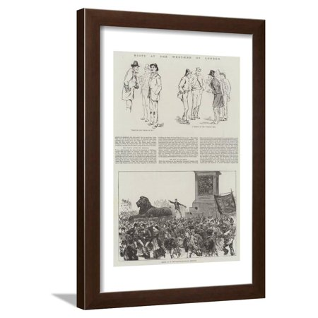 Riots at the West-End of London Framed Print Wall Art](Riots London Halloween)