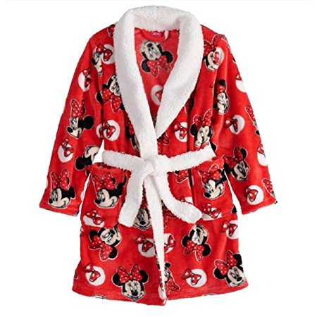 Disney's Minnie Mouse Plush Robe - Girls 4-8 (4) (Minnie Mouse Stuff)