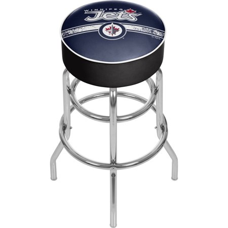 Winnipeg Jets Bar Stool (NHL Chrome Bar Stool with Swivel, Winnipeg Jets )