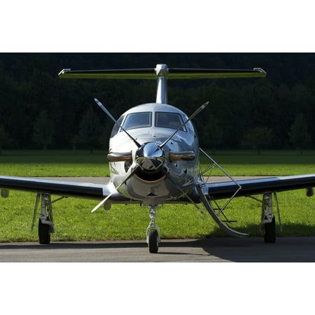 Private Page Base (A Pilatus PC-12 private jet Mollis Air Base Switzerland Poster)