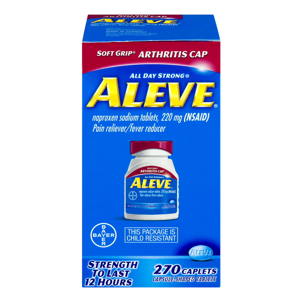 Aleve All Day Strong Pain Reliever/Fever Reducer Caplets - 270 CT