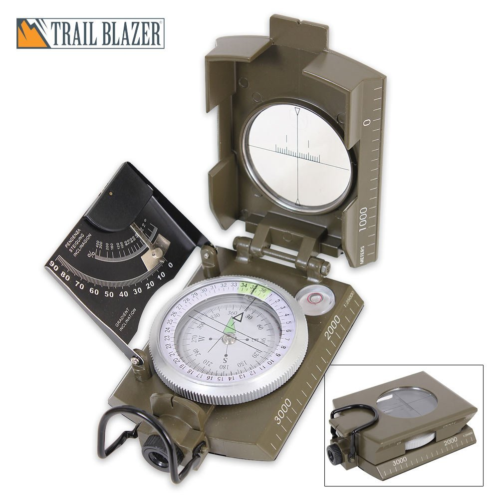 Deluxe Olive Drab Marching Compass, Quality tested and ensured for maximum durability By Rothco