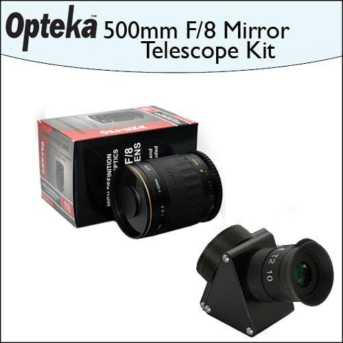 Opteka 500mm f/8 HD Telephoto Mirror Lens + Lens Converte...