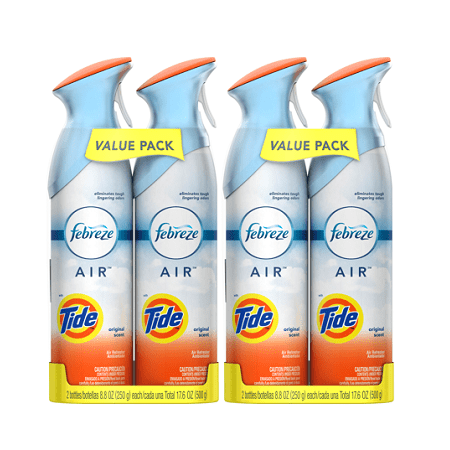 (2 pack) Febreze AIR Effects Air Freshener with Tide Original Scent (4 Total, 17.6 (Original Scent 19 Oz Aerosol)