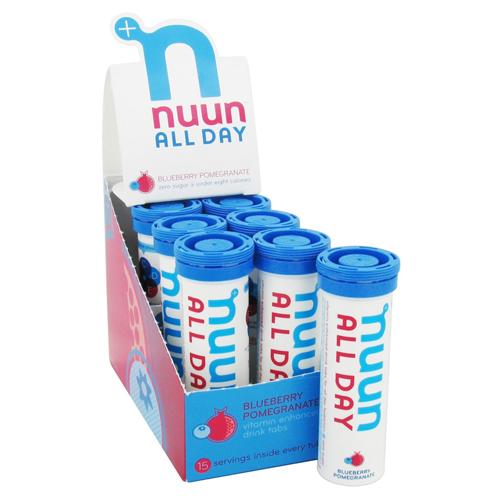 Nuun Hydration Tablets All Day - Blueberrry Pomegranate - Case of 8 - 16 Tablets